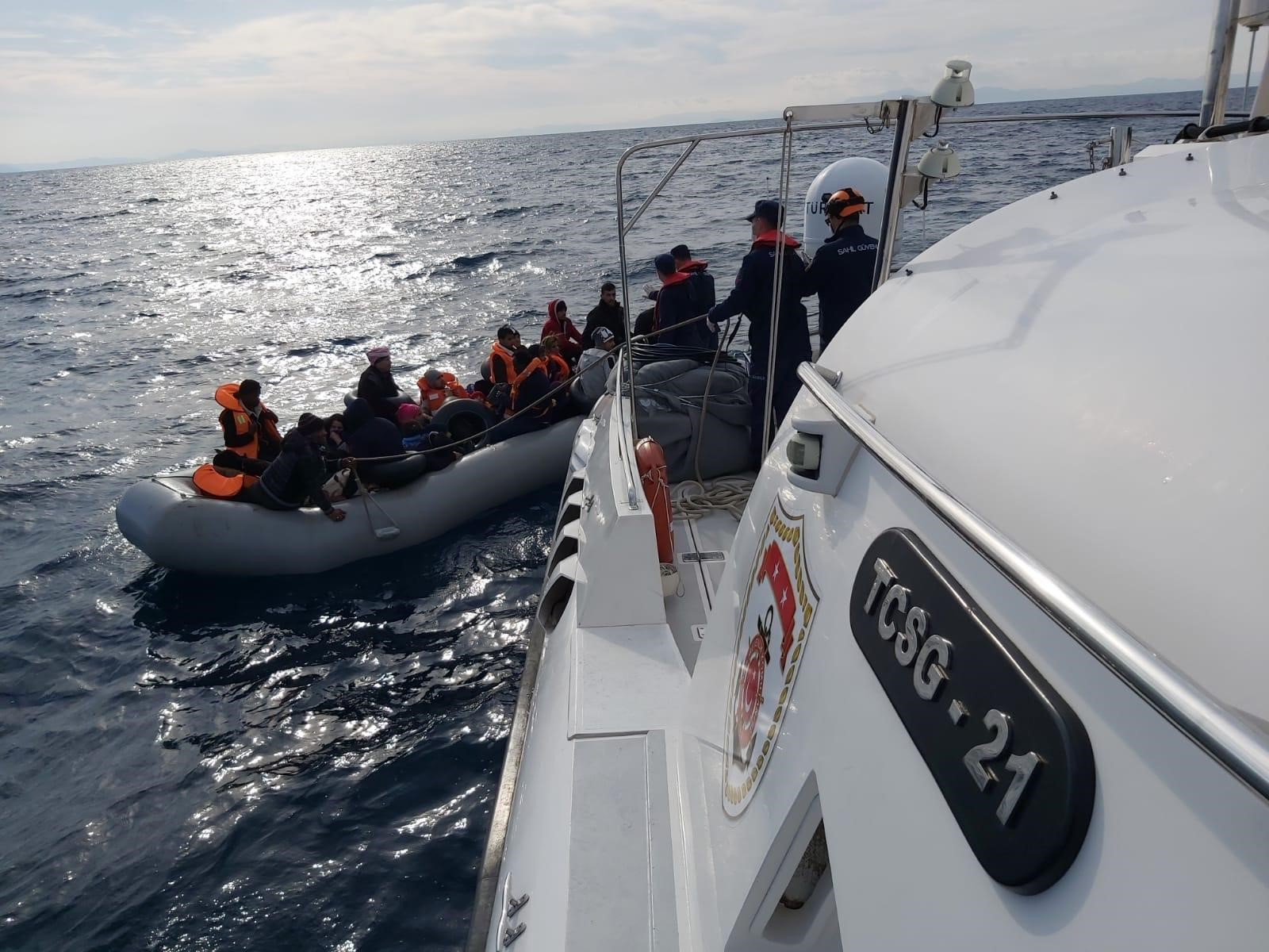 34 Irregular Migrants Were Apprehended Off The Coast Of Aydin